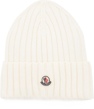 Moncler Ribbed-Knit Wool Beanie