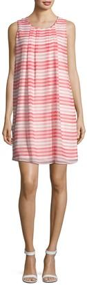 Calvin Klein Collection Sleeveless Striped Shift Dress