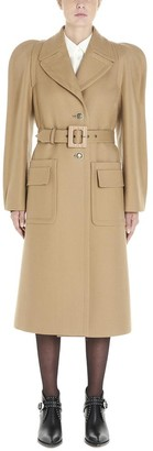 Givenchy Single Breasted Belted Coat