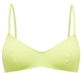 Solid & Striped The Rachel Ribbed Bikini Top - Green