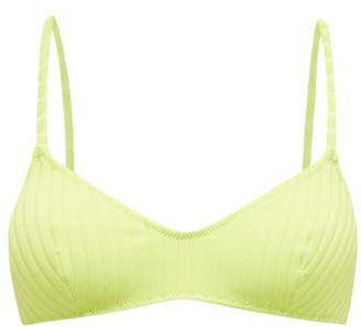 Solid & Striped The Rachel Ribbed Bikini Top - Womens - Green