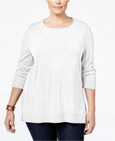 Karen Scott Plus Size Luxsoft Scoop-Neck Sweater, Only at Macy's