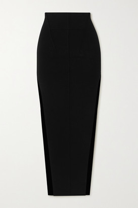 Rick Owens Gonna Stretch-knit Maxi Skirt - Black