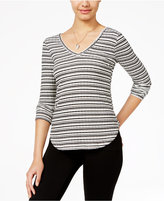 American Rag Striped Lace-Trim Top, Only at Macy's