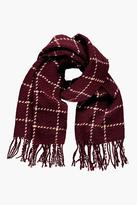 Boohoo Keely Checked Large Wrap Scarf
