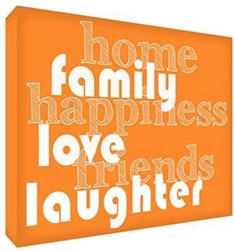 Camilla And Marc Feel Good Art A6 Diamond Polished Acrylic Decor/Momento Block (14.8 x 10.5 x 2 cm, Small, Orange)