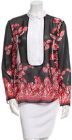 Giambattista Valli Printed Silk Top w/ Tags