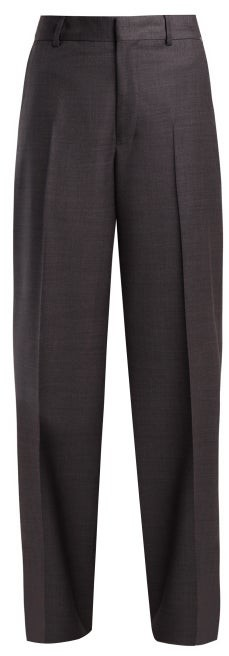 Raey Fine Wool Trousers - Womens - Grey