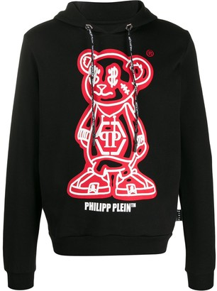 Philipp Plein Teddy Bear Fleece Hoodie