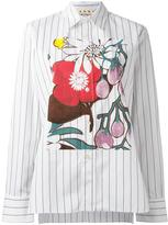 Marni striped floral print shirt