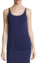 Eileen Fisher Stretch Silk Long Cami, Dark Night