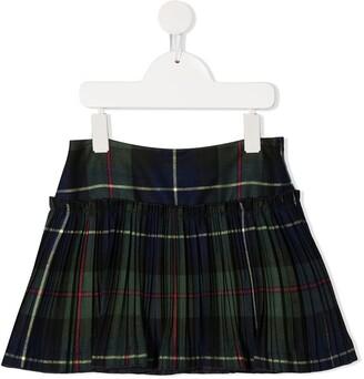 Il Gufo Pleated Tartan Mini Skirt