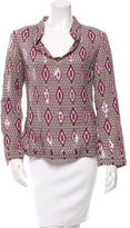 Tory Burch Embellished Geometric Print Top