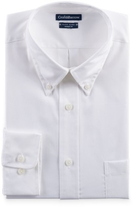 Croft & Barrow Big & Tall Classic-Fit Easy-Care Button-Down Collar Dress Shirt
