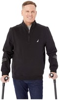 Nautica 1/4 Zip Fleece Pullover (Black) Men's Clothing