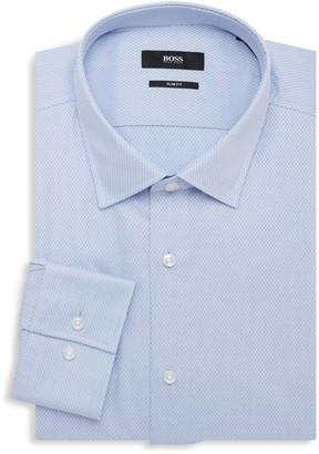 HUGO BOSS Jenno Slim-Fit Textured Dress Shirt
