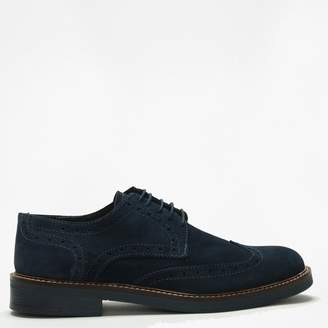 Daniel Navy Suede Lace Up Brogues