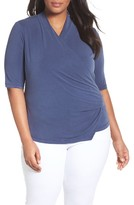 Nic+Zoe Plus Size Women's City Retreat Surplice Top