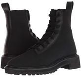 Loeffler Randall Brady Stretch Knit Combat Boot (Black Stretch Knit) Women's Boots