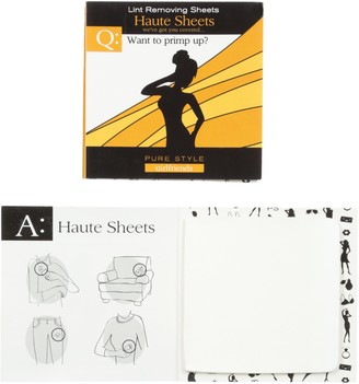 Pure Style Girlfriends Women's Haute Sheets Set of 2 Lint Removing Booklets