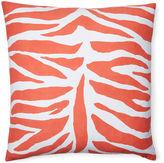 Dana Gibson Zebra 18x18 Cotton Pillow, Orange