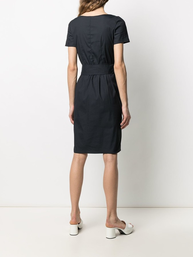 Thumbnail for your product : Prada Pre-Owned 1990s Belted Midi Dress