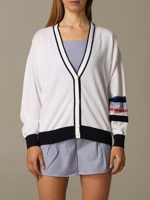 Armani Collezioni Armani Exchange Sweater Armani Exchange Cardigan With Bands And Logo