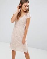 Vila Geo Print Burnout Midi Dress with Side Slits