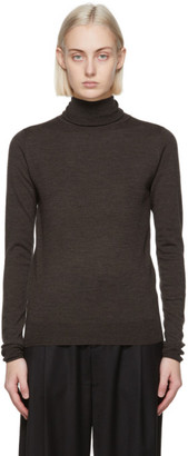 Totême Brown Merino Turtleneck