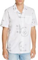 Soulland Cornwall Graffiti Print Slim Fit Button-Down Shirt