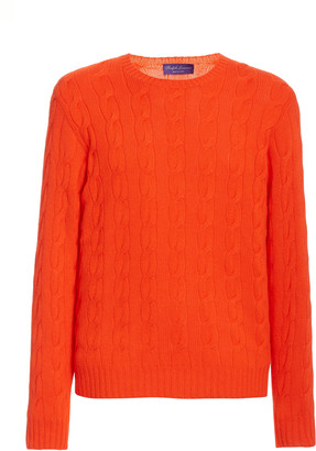 Ralph Lauren Purple Label Cashmere Cable-Knit Sweater