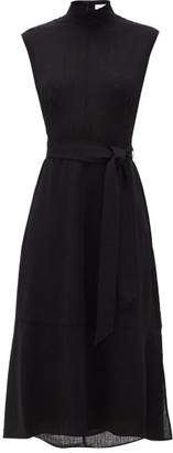 Cefinn - Etta High-neck Belted Dress - Womens - Black