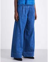 Ulla Johnson Lange flared wide high-rise jeans