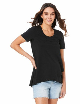 Ripe Maternity Women's Short SLV Raw Edge Nursing Top
