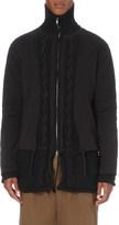 Yohji Yamamoto Double layered wool-blend jacket