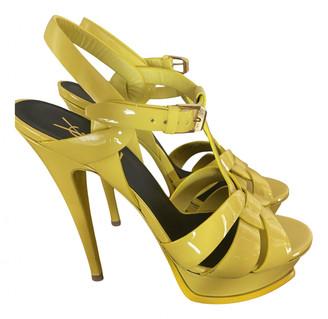 Saint Laurent Tribute Yellow Patent leather Sandals