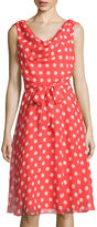Ronni Nicole RN Studio by Sleeveless Dot Print Fit-and-Flare Dress