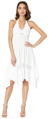 Scully Cantina Alaysia Flirty Halter Dress (White) Women's Dress