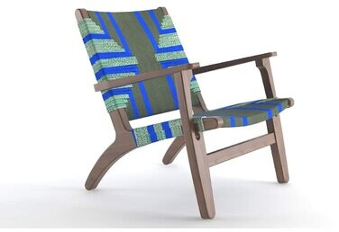 """Thumbnail for your product : Masaya & Co 29"""" Wide Polyester Armchair"""