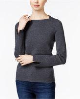 Armani Exchange Square-Neck Split-Sleeve Sweater