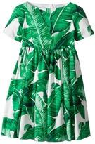 Dolce & Gabbana Botanical Garden Banana Leaf Dress (Toddler/Little Kids)