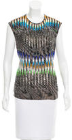 Peter Pilotto Embellished Silk Top
