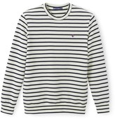 Petit Bateau Mens striped fleece sweatshirt