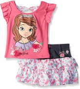 Disney Little Girls 2 Piece Sofia The First Denim and Challie Scooter Set