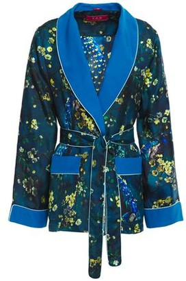F.R.S For Restless Sleepers Armonia Belted Printed Silk-twill Jacket
