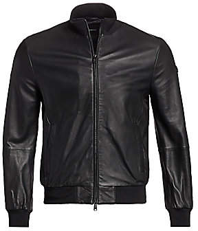 Emporio Armani Men's Leather Bomber Jacket