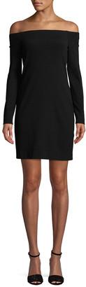 Tibi Off-The-Shoulder Sheath Dress