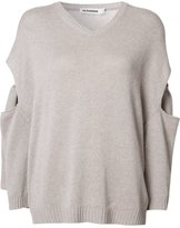 Jil Sander cut-off detailing jumper - women - Cotton - 34