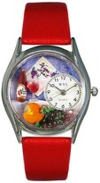 Whimsical Watches Women's S0310004 Wine and Cheese Red Leather Watch