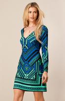 Hale Bob Pami Starburst Dress In Teal